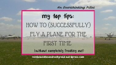 How To Fly A Plane For The First Time | Books, Tea & A Onesie